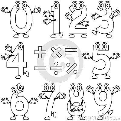 Números de la historieta del colorante