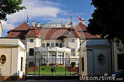 No. 1 building in  Prague  - Castle Editorial Photo