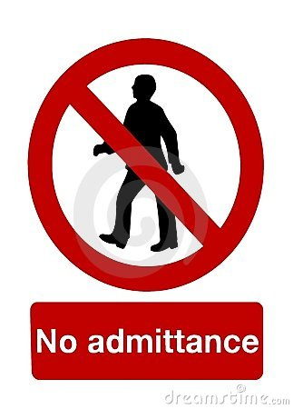 Free No Admittance Royalty Free Stock Photos - 20728