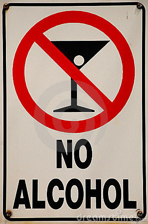 No Alcohol Signage Stock Image - Image: 5192691