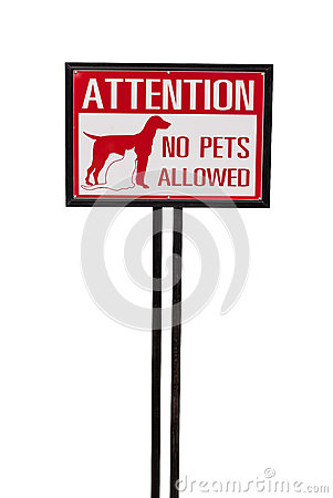 No animal allowed sign isolated mr no pr no 0 306 0