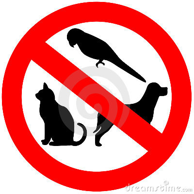 Free No Animals Allowed Royalty Free Stock Images - 14303309