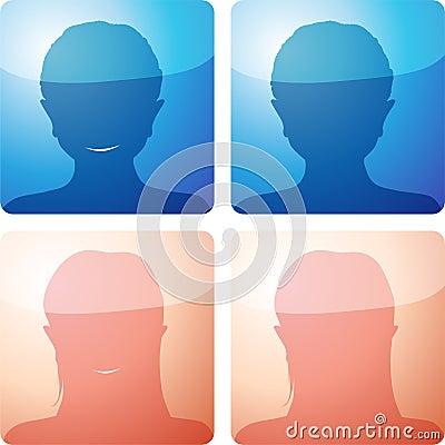 No avatar - four icon set