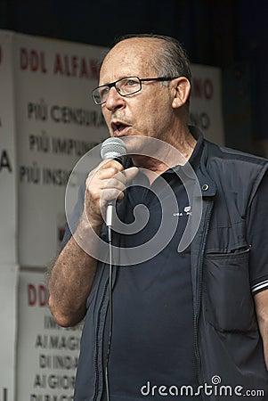 No Bavaglio Day - Salvatore Borsellino Editorial Stock Image