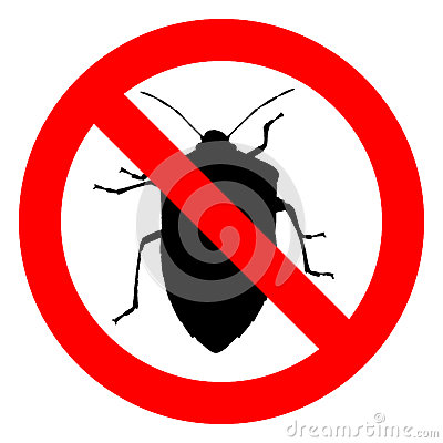 Free No Bugs Sign Royalty Free Stock Images - 85893759