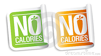 No calories stickers.