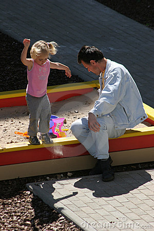 No campo de jogos das crianças
