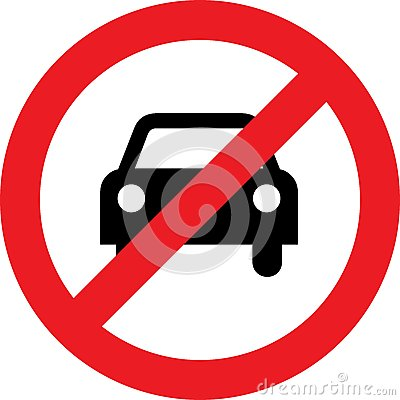 Free No Car Or No Parking Sign Royalty Free Stock Images - 79904939