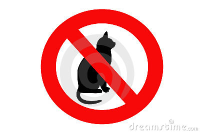 No cat sign