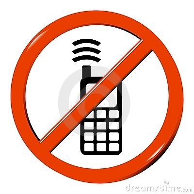 No cellphone