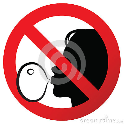 Free No Chewing Gum Prohibited Symbol Sign On Paper Sticker, Illustration Against Blowing A Bubble Gum Stock Photo - 84779030