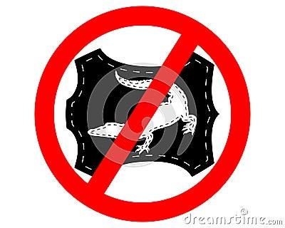 No crocodile leather
