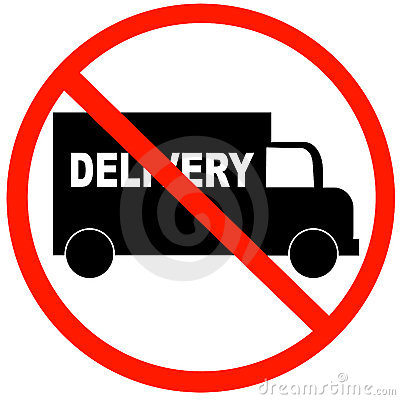 No delivery available