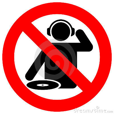 Free No Dj Zone Warning Sign Stock Images - 5030504
