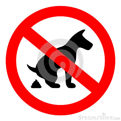 Free No Dog Pooping Sign Stock Images - 88703794