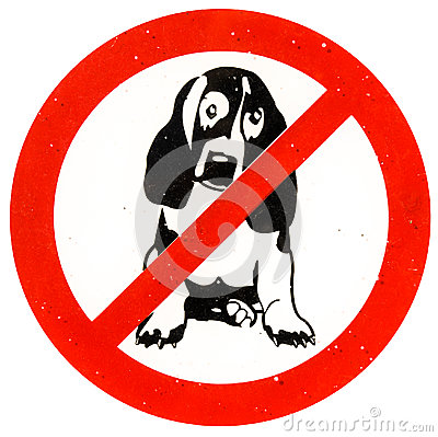 Free No Dogs Allowed Royalty Free Stock Photography - 29012967