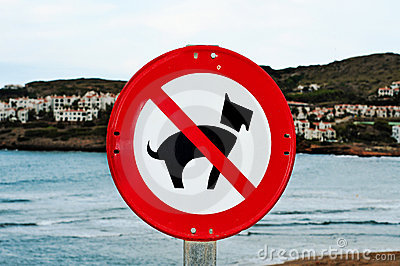 No dogs allowed traffic sign