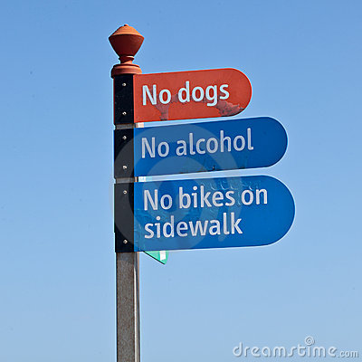 No dogs, no alcohol