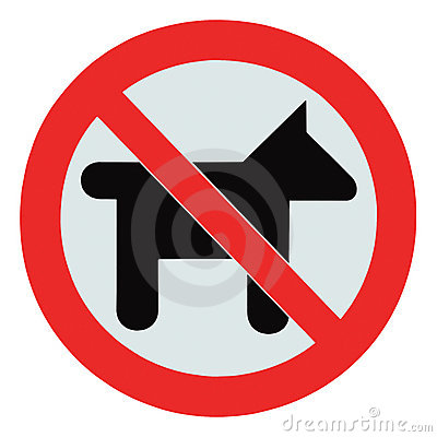 Free No Dogs Pets Allowed Warning Sign Isolated Signage Stock Photo - 20969030