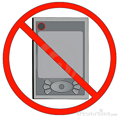 No electronic devices allowed