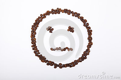 no emotion smiley coffee laid out beans 31237391