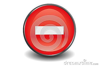No entry button
