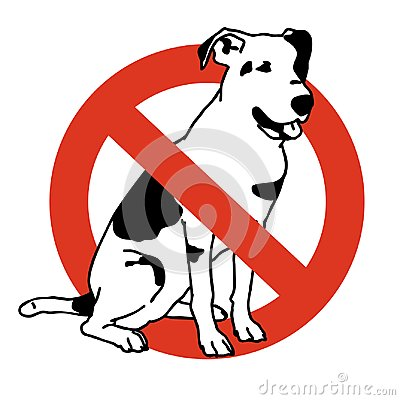Free No Entry Dogs. Prohibition Of Dog. Strict Ban On Walking The Dog, Forbidden. Stock Photos - 108884073