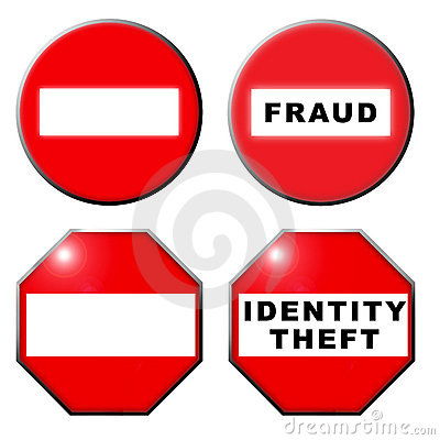 No entry fraud identity theft symbol