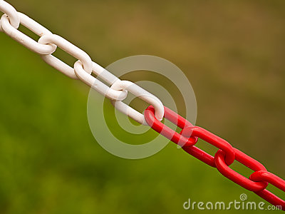 Red and White Chain Barrier - Private Property