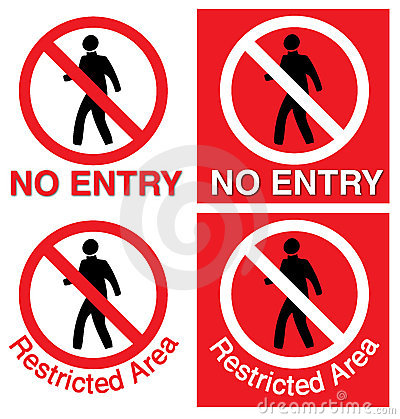 No entry & restricted area