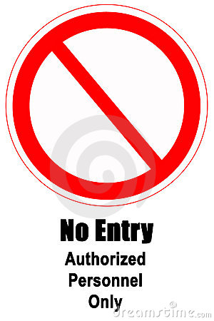 Free No Entry Sign Royalty Free Stock Image - 1498796
