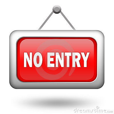 Free No Entry Sign Stock Photo - 21496140