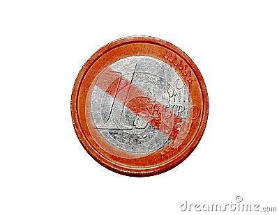 No Euro coin