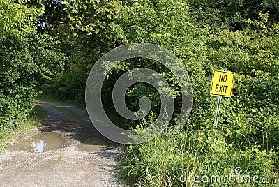 No Exit Roadway