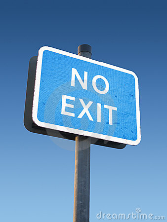 Free No Exit Sign Stock Images - 546164