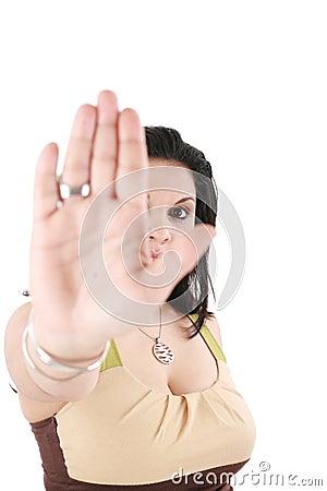 No gesture