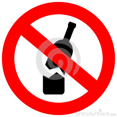 Free No Glass Or Bottles Allowed In This Area Stock Photography - 95110332