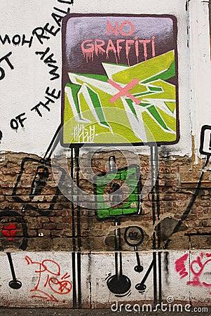 No graffiti Editorial Stock Image