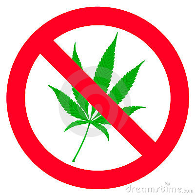 No hemp leaf sign