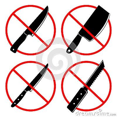 Free No Knives Or No Weapon Signs Royalty Free Stock Image - 94532056