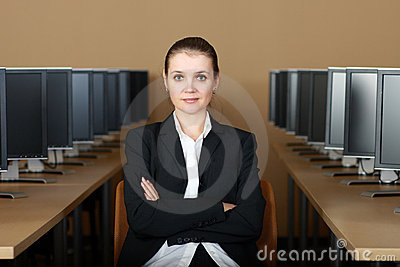 No laboratório do computador