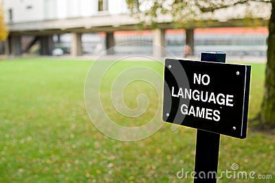 No language games