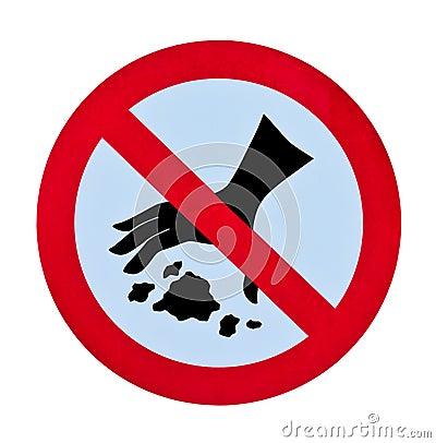 Free No Littering Garbage Warning Sign Stock Photo - 17397490