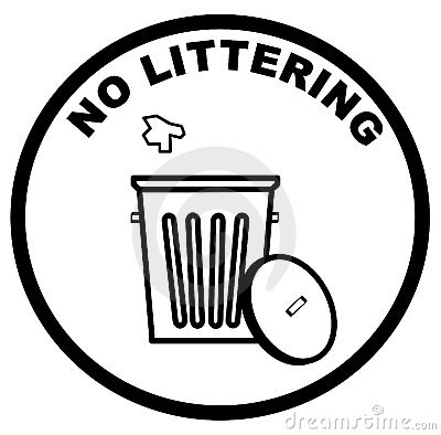 Free No Littering Sign Royalty Free Stock Image - 4905826