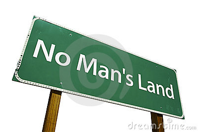 No Man s Land road sign