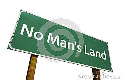 No Man s Land road sign