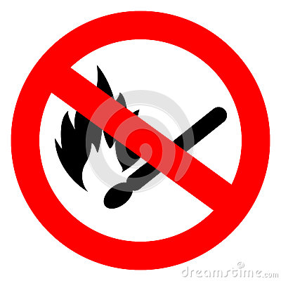 Free No Match Fire Vector Sign Stock Photo - 82158890