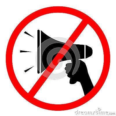 No megaphone sign