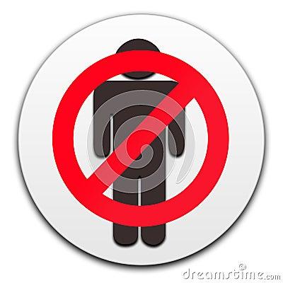 No men button