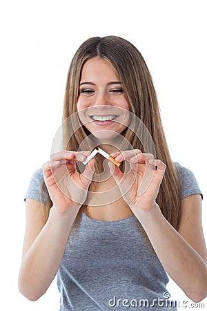 Free No More Cigarette (focus On Cigarette) Stock Photography - 38976812
